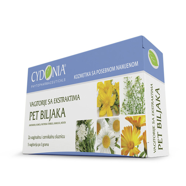 vagitorije sa ekstraktom pet biljaka - five herbs vaginal suppositories